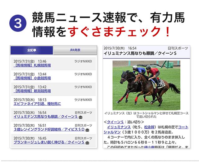 競馬ニュース速報で、有力馬情報をすぐさまチェック!